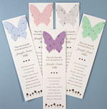 Memorial bookmark with butterfly