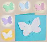 Plantable butterfly memorial card