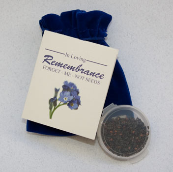Forget-me-not seed pouches